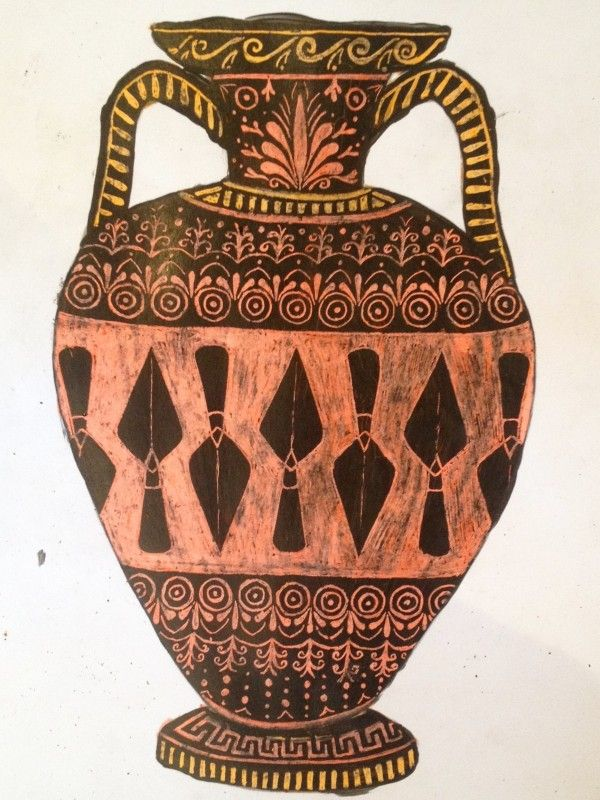 How To Make A Scratch Art Greek Vase Art History Lessons