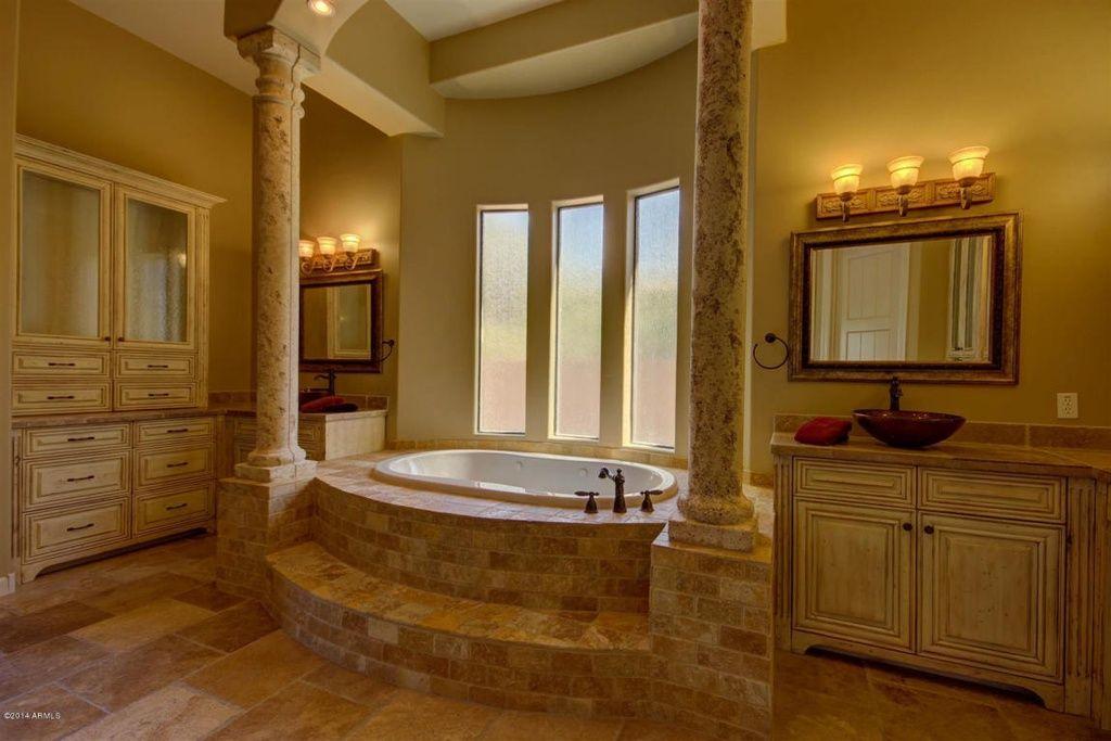 Great Traditional Master Bathroom with Bay window & Flush in MESA, AZ