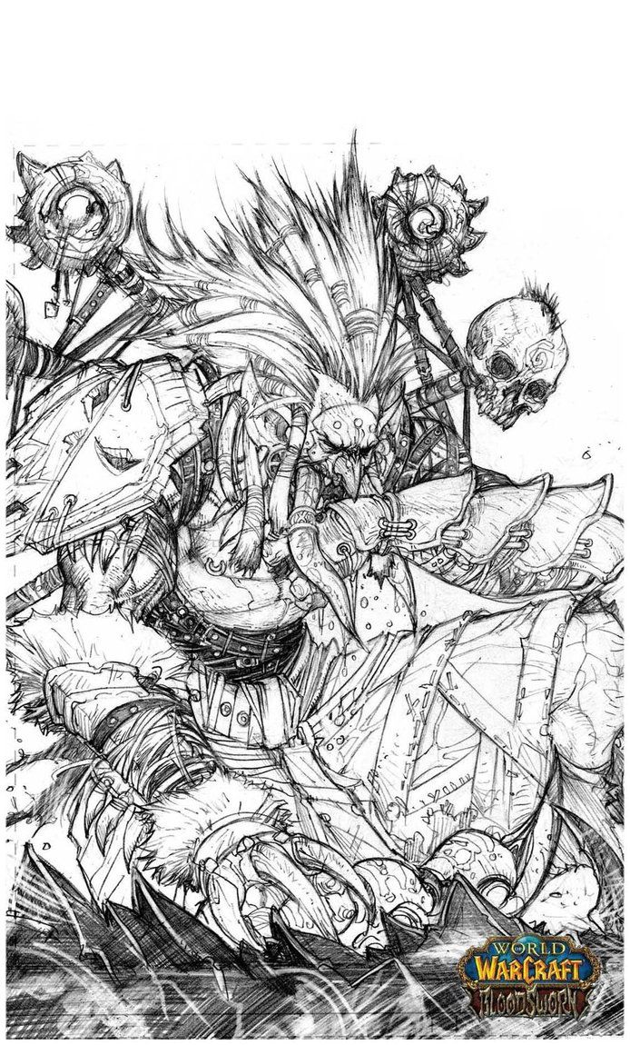 World Of Warcraft Coloring Book Google Search Coloring Pictures Detailed Coloring Pages Drawing Artwork