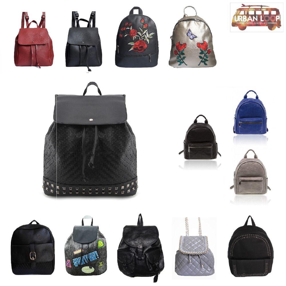 99c295450a zainetto uomo donna ecopelle nero borchie borsa zaino viaggio vintage pelle  2018   Abbigliamento e accessori