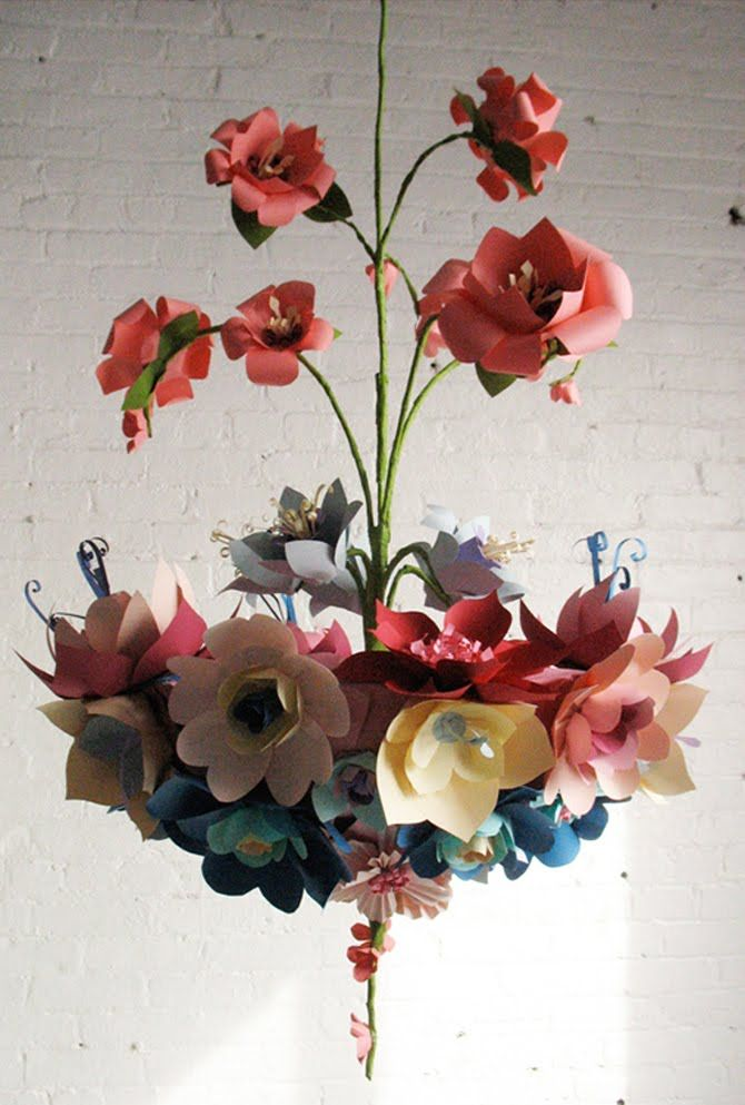 This Is Made Out Of Paper But Would Be Beautiful As A Chandelier Paper Flowers Paper Flowers Diy Paper Chandelier