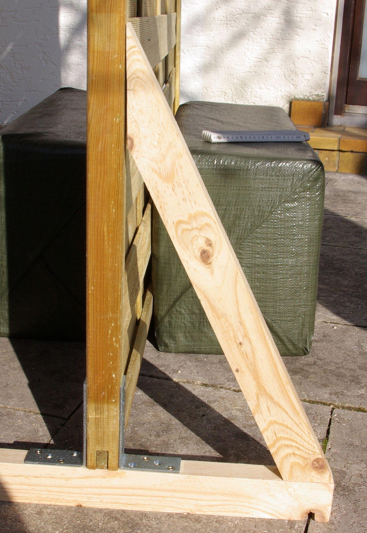 Ideal Sichtschutz Paravent Garten Balkon selber bauen Anleitung DIY ein Fuss fertig