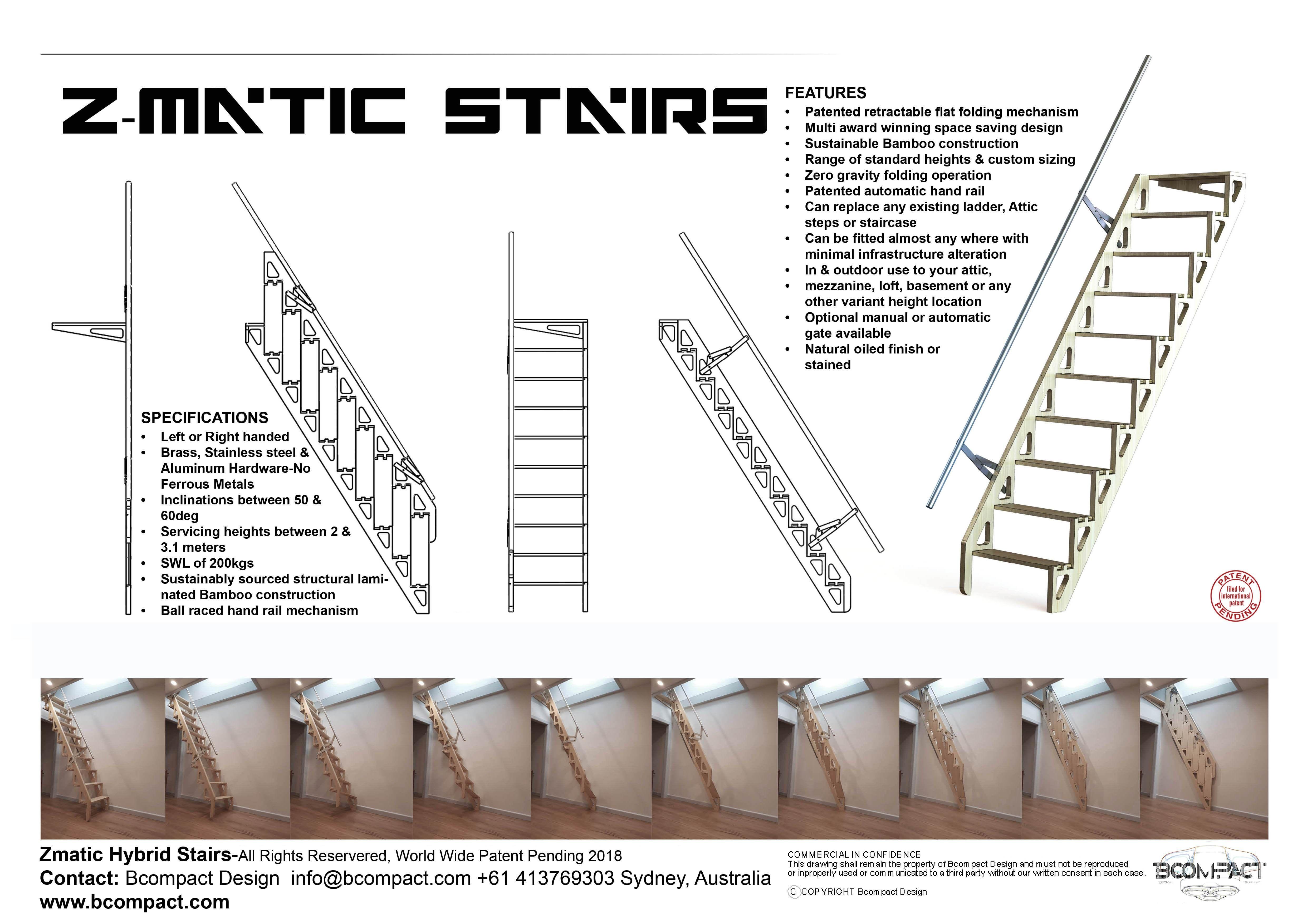 Best Bcompact Hybrid Stairs And Ladders Escaleras Plegables Diseño De Escalera Escaleras De Desván 400 x 300
