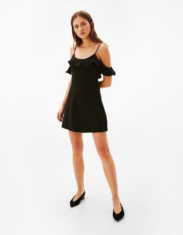 Bershka 2020 Kisa Gece Elbiseleri Abiye Modelleri The Dress Siyah Mezuniyet Balosu Elbiseleri Elbise