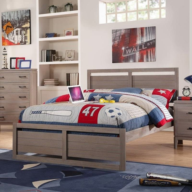 If you're looking for a bed your son or daughter won't grow out of quickly, this classic-meets-modern look is a style they won't find too juvenile by next year. Weatherly Full Panel Bed | Weekends Only Furniture and Mattress