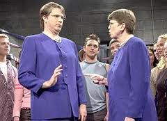 Will Ferrell And Janet Reno Snl Characters Funny Dude Snl Skits