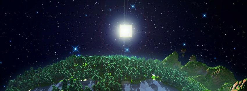 Minecraft Night Facebook Cover Minecraft Wallpaper Minecraft Facebook Cover Photos