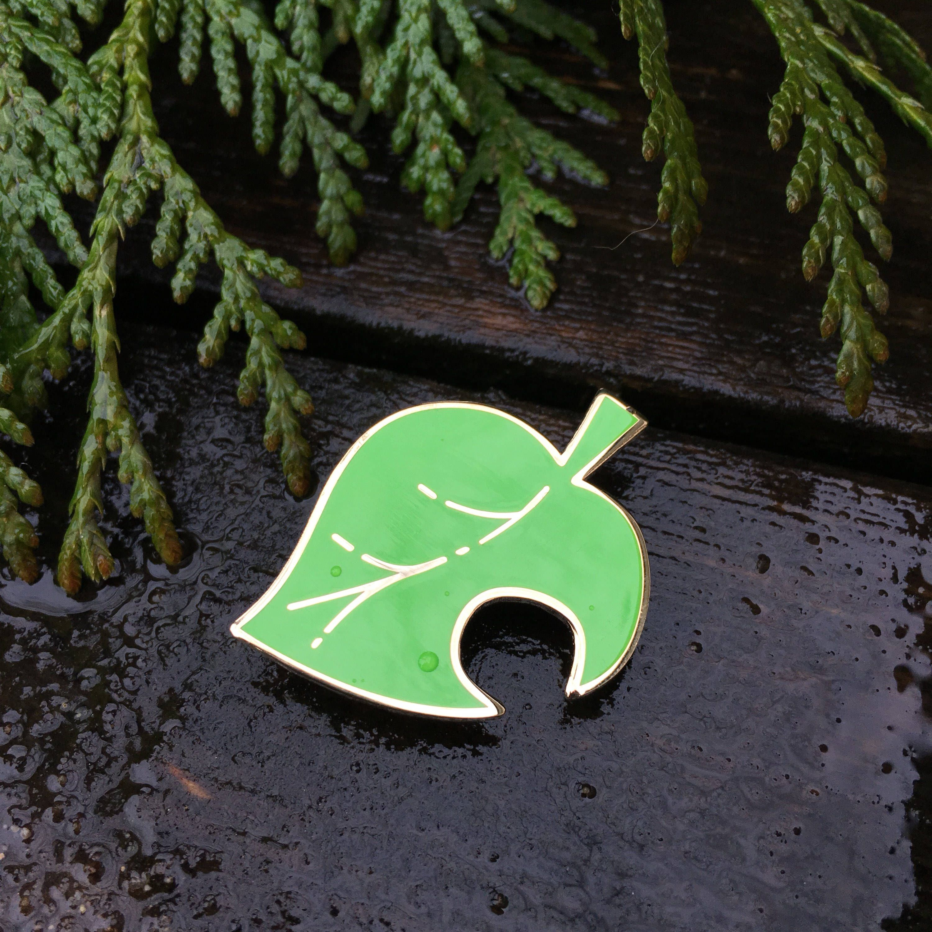 Animal Crossing Leaf Enamel Pin Acnl Leaf Symbol Lapel Pin