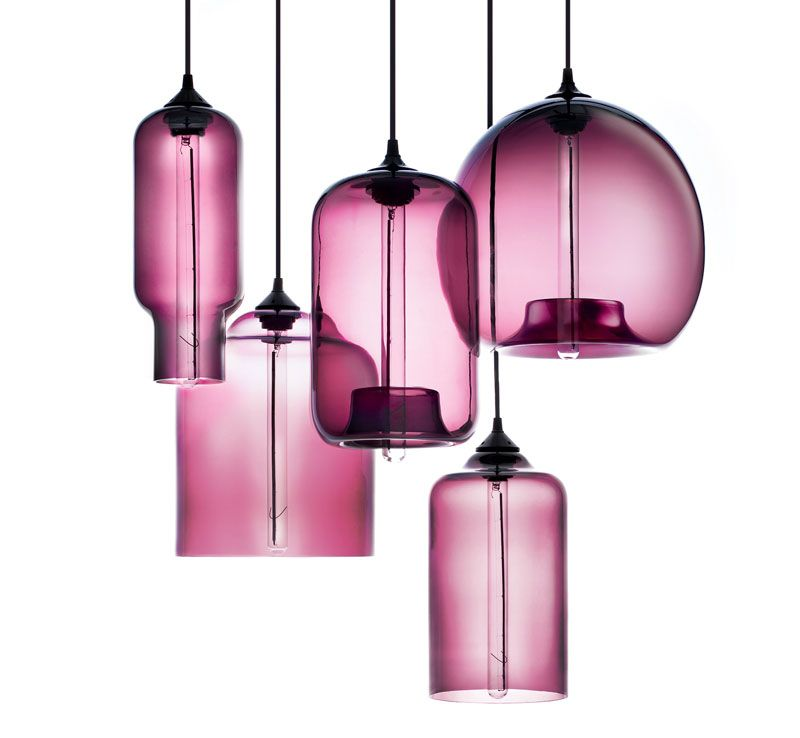 Niche modern plum pendant lights featured in martha for Modern lighting fixtures chandeliers