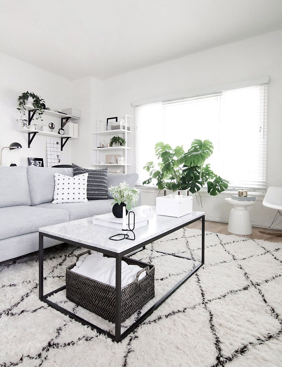 west elm - Black and White Modern Living Room by Amy Kim of Homey Oh ...