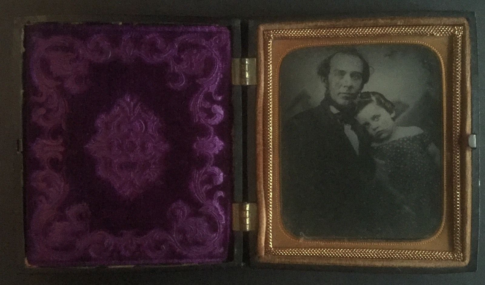 Touching Ambrotype of Father and Child in Thermoplastic Union Case C 1866 | eBay