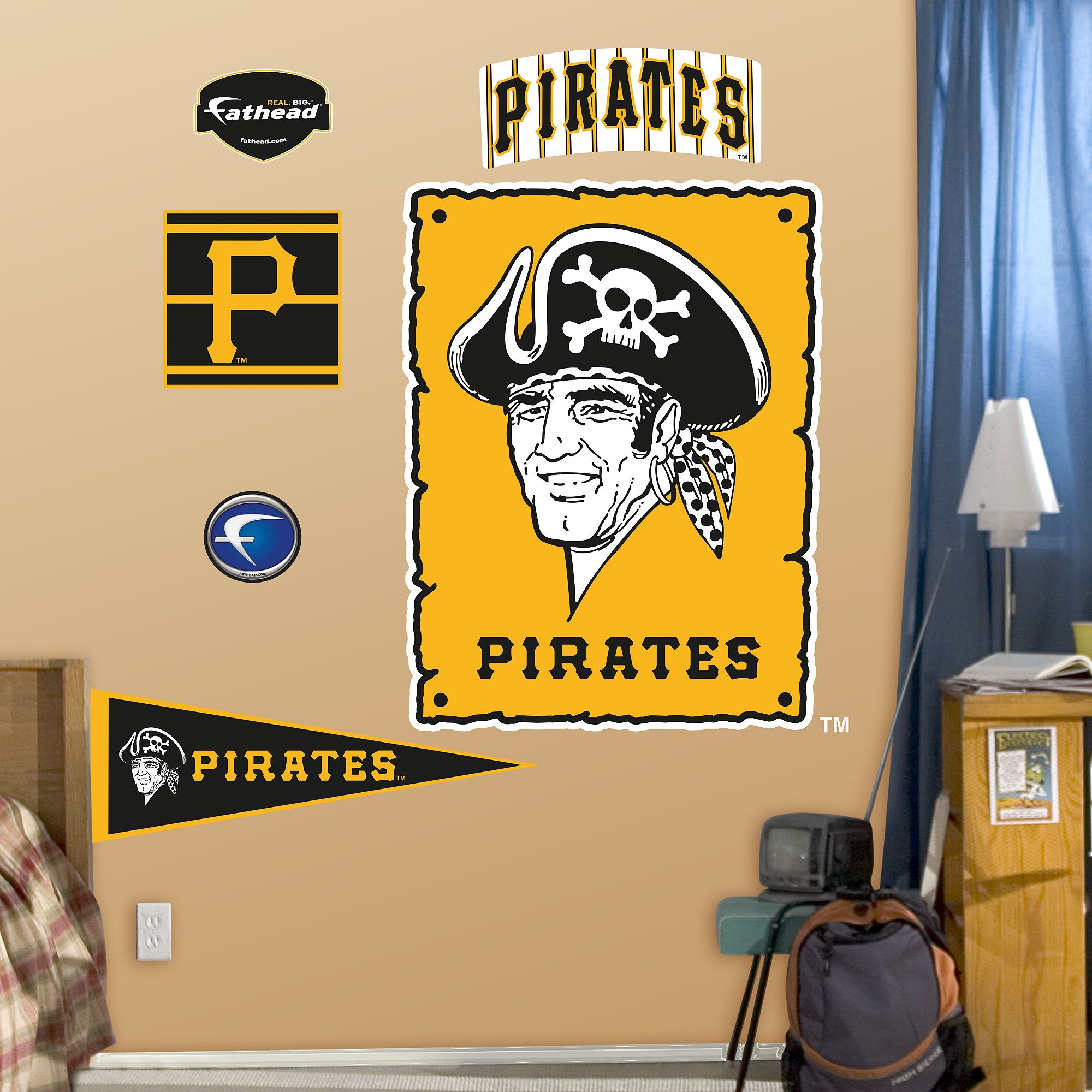 Pittsburgh Pirates Classic Logo | Pittsburgh pirates, Wall decals ...