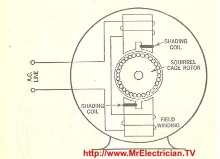 Shaded Pole Motor Fractional Horsepower Electric Motor Diagrams
