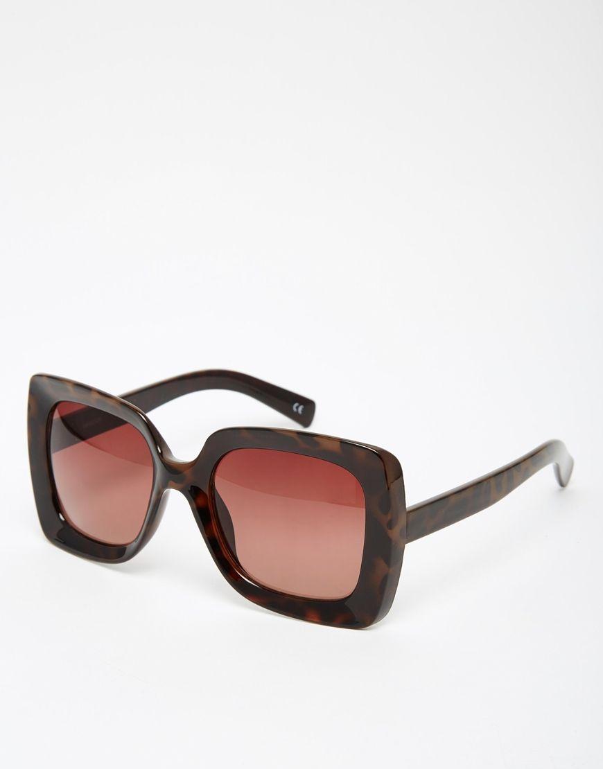 Gafas de sol de montura cuadrada extragrande estilo años 70 de ...
