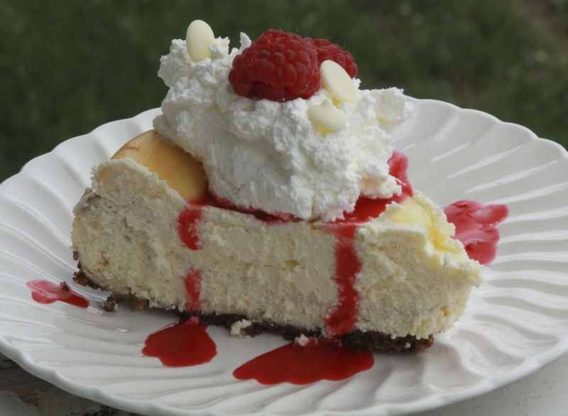 Hi de ho, neighbors! I just made a cheesecake for a good friends' Dad's Birthday, but while I was at it, I wanted something fun to share with you, too. Because I'm a sharer. And I like cheesecake. ...
