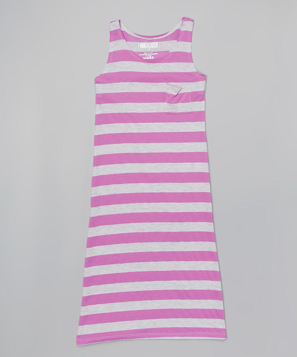 Purple Stripe Maxi Dress - Toddler