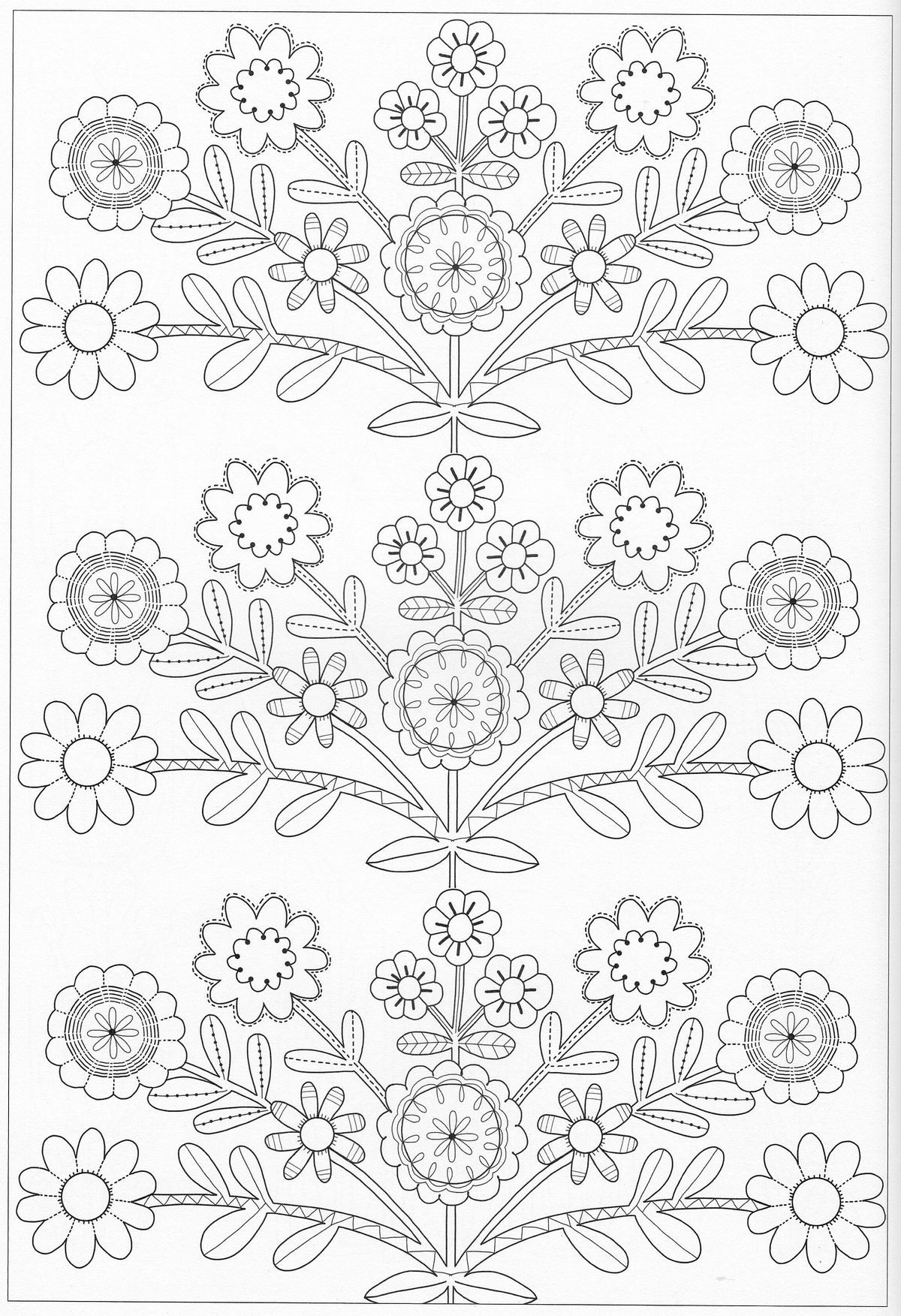 Scandinavian Coloring Book Pg 45 | Картинки | Pinterest | Bordado ...