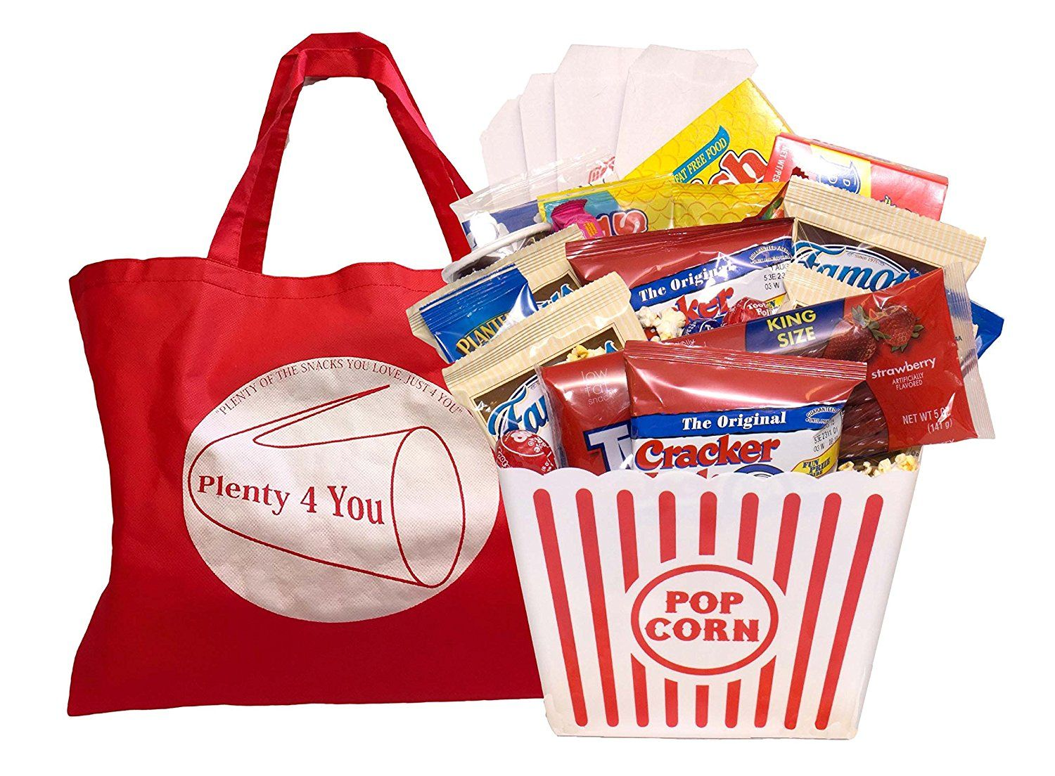 Ultimate Movie Night Gift Bundle, Popcorn, Candy, Cookies
