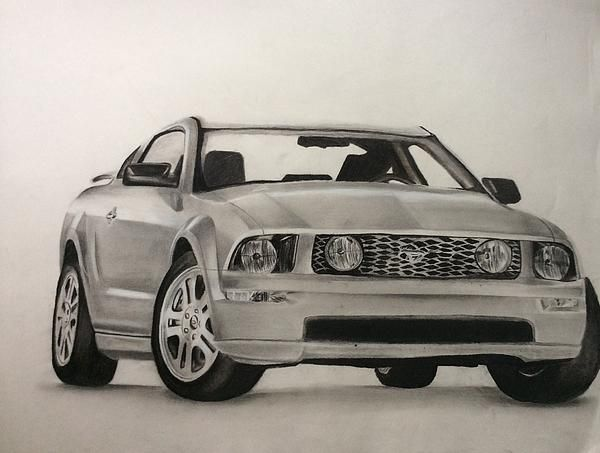 Check out my drawing go a Mustang!
