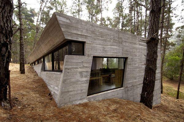 Maison contemporaine en béton banché | ARCHITECTURE | Béton ...