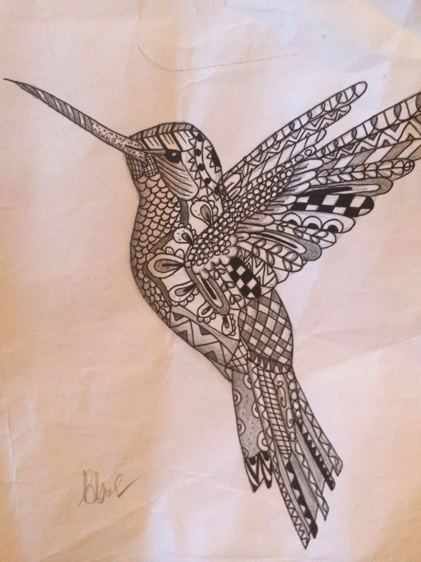 zentangle hummingbird i designed tattoos pinterest zentangle hummingbird and tattoo. Black Bedroom Furniture Sets. Home Design Ideas
