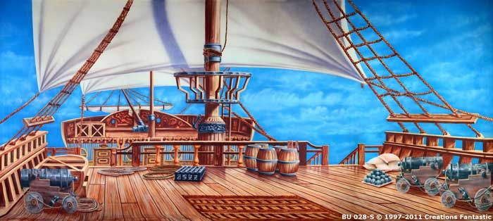 Backdrop Bu028 S Pirate Ship Deck Pirate Ship Pirate Images Deck Images