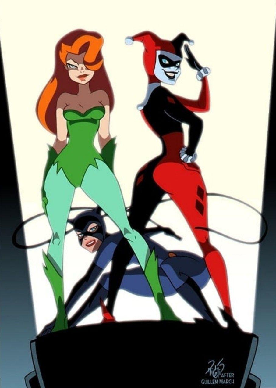 Gotham City Sirens Dessin De Cheveux Harley Queen Univers Dc