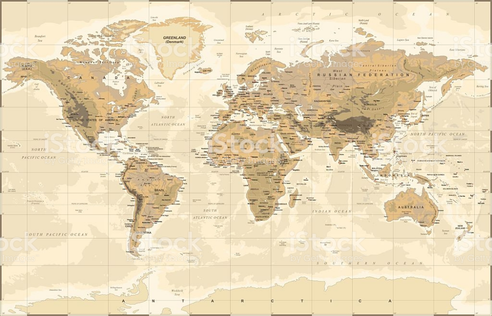 Highly Detailed Vector Illustration Of World Map World Map World Map Wallpaper Map Background