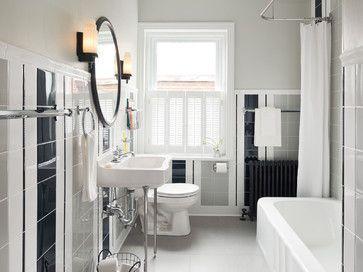 Striped Guest Bath - traditional - bathroom - philadelphia - Kenny Grono