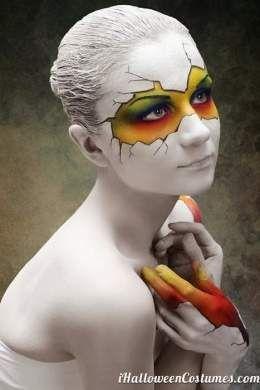 Resultado de imagen para maquillaje de halloween  con peluca blanca