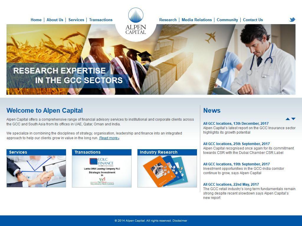 Alpen Capital Company Gate Precinct Building 5 11f Al Sukook