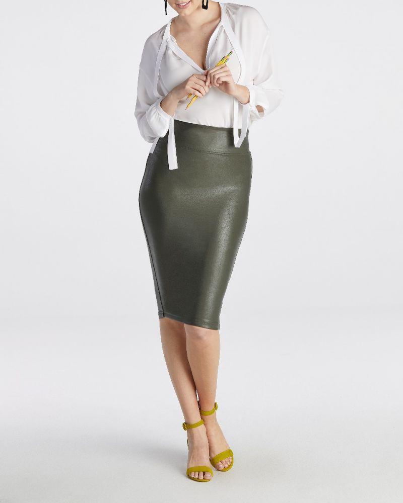 09b6c19b28eb3 Faux Leather Pencil Skirt in 2019 | E s s e n t i a l s | Faux ...