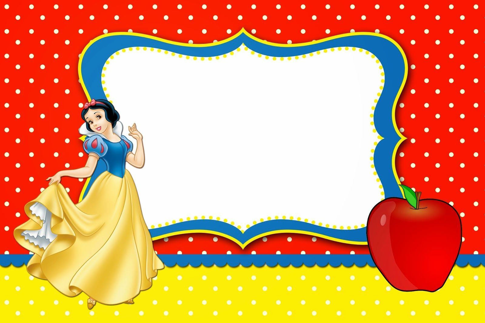 Snow White Free Printable Invitations Labels Or Cards Snow