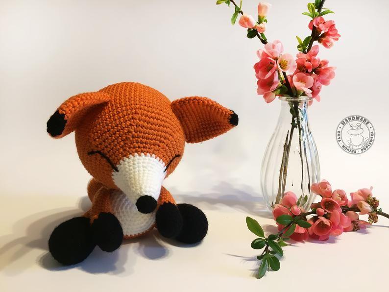 Sleeping fox amigurumi pattern   Amiguroom Toys   596x794