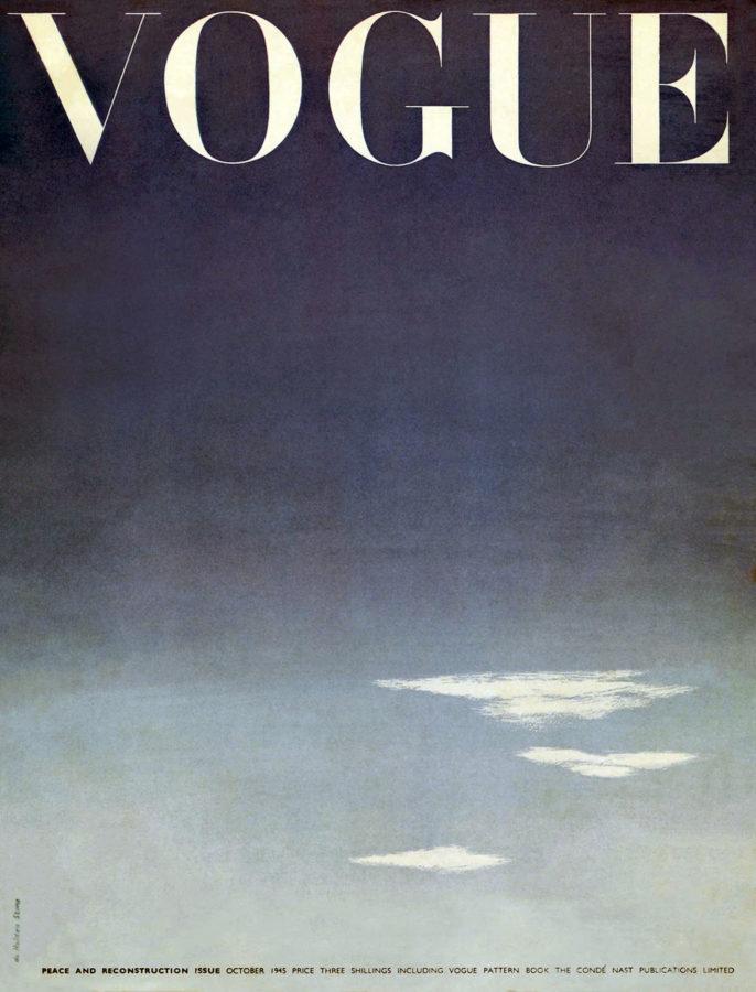 British Vogue October 1945 British Vogue October 10 Magazine Cover Template Vogue Vogue Magazine Covers