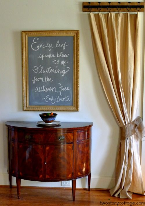 Foyer Mirror Quote : Foyer with demilune table large chalkboard mirror and