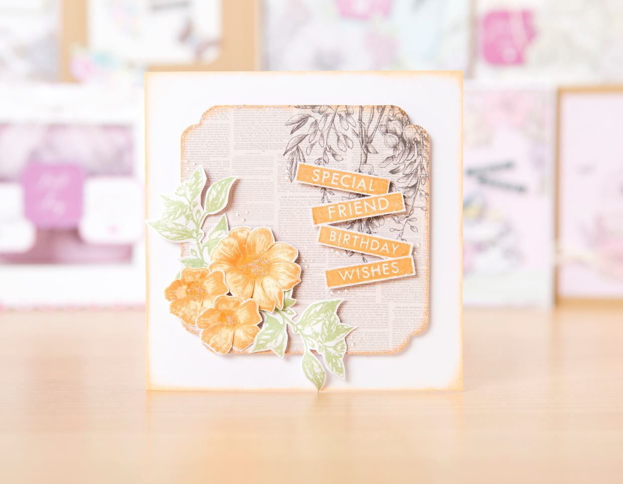 Make beautiful cards all year round with the @craftworkcards Birds and Blooms Collection! / cardmaking / papercraft / scrapbooking / craft
