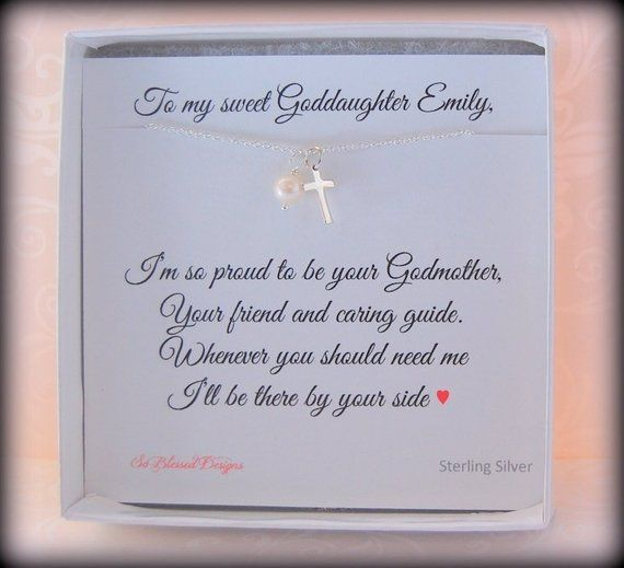GODDAUGHTER Gift Baptism For Goddaughter First Communion Birthday Tiny Cross An