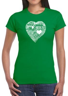 La Pop Art Word Art Graphic T-Shirt - Love In 44 Different Languages. Created using the word