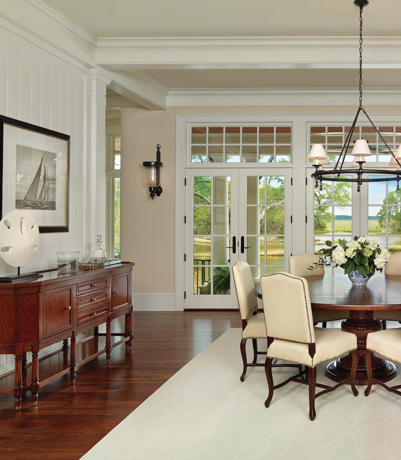 Dining area with a beautiful view--Kiawah Island home featured in ...