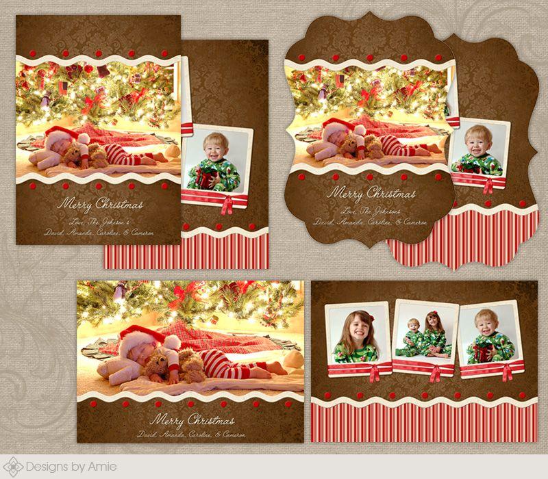 Gingerbread Crust Christmas Card [CC084] : Designs By Amie ...