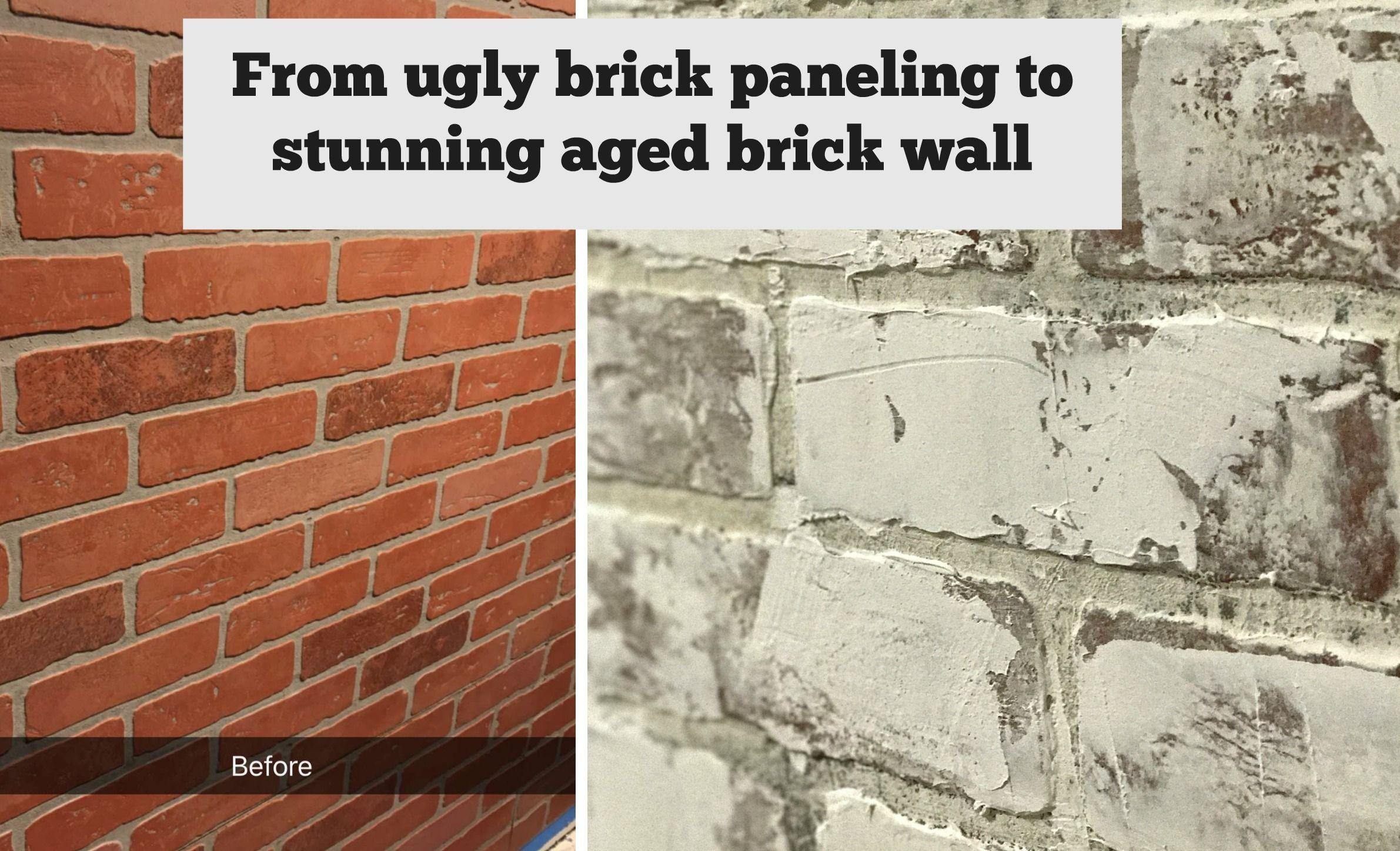 Faux Brick Wall Created From Brick Paneling Brick Wall Faux
