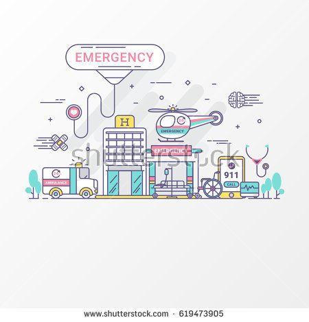 Flat line emergency hospital design concept  Ambulance