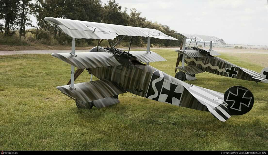 Fokker Dr.I by Pavel Zoch [...Jasta 6,, pilots Ltn