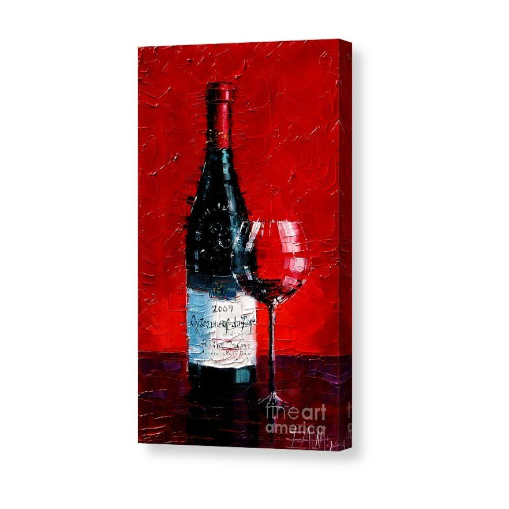 Still Life With Wine Bottle And Glass 1 Canvas Print Canvas Art By Mona Edulesco In 2020 Wine Painting Wine Art Contemporary Art Canvas