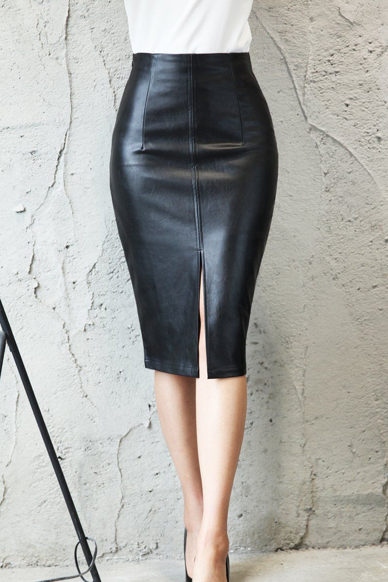 Leather faux skirt h recommend to wear in summer in 2019