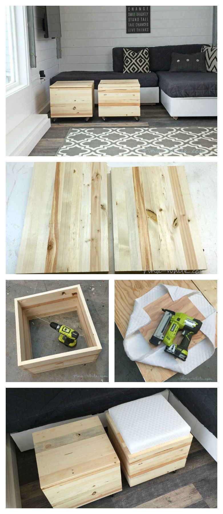 Wood Storage Stools With Images Diy Stool Storage Stool Easy