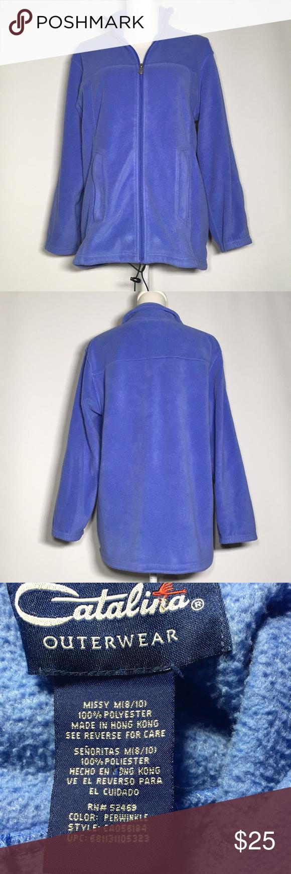 Catalina Fleece Jacket Missy Medium 8 10 Fleece Jacket Jackets Clothes Design [ 1740 x 580 Pixel ]
