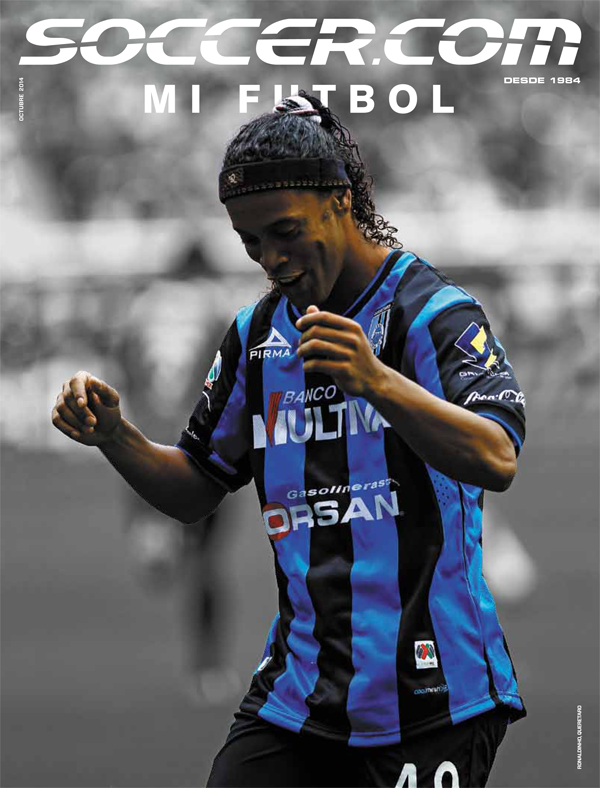Ronaldinho Gaúcho in SOCCER.COM OCTOBER 2014 Mi Futbol