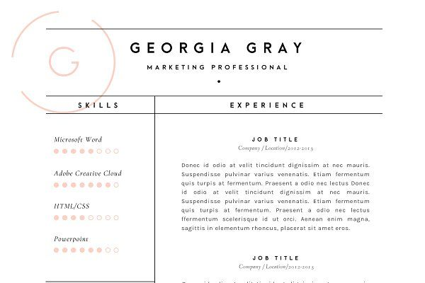 Resume Template 3 Page CV Template Cv template - resume quality assurance